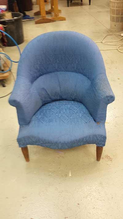 Photo Avant Après rénovation, réfection et restauration de fauteuils